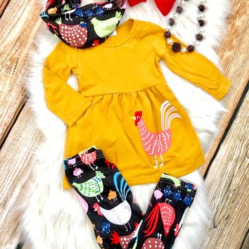 RTS-IN STOCK CHICKEN PARTY SCARF SET! Restocked!! D45