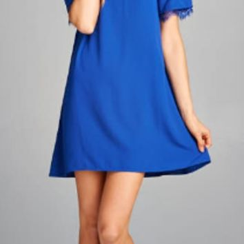 Off The Shoulder Solid Dress