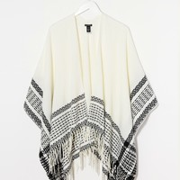 Warehouse Textured Border Cape