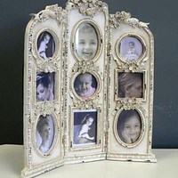 Cream Shabby Chic Triple  Photo Frame - Melody Maison