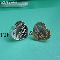 iOffer: 925 Sterling Silver Heart Studs Earrings  for sale