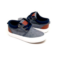 Boys Grey Fabric Sneakers