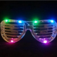 LED Rave-EyesTM Flashing Lights Crystal Shutter Glasses Slotted Sunglasses Great for Raves or Parties - High Quality