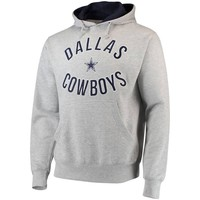 DALLAS COWBOYS Authentic Welch Pullover Hooded Sweatshirt Hoody Hoodie - Gray