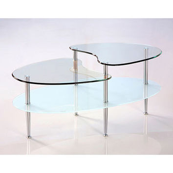 Stylishly Crafted Mariner Oval Coffee Table by Walker Edison