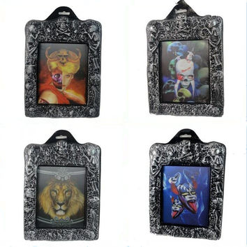 Fun Scary Halloween Lenticular 3D Changing Face Horror Portrait Haunted Spooky Horrible Decorative Painting Frame Props