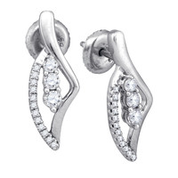 Diamond Fashion Earrings in 10k White Gold 0.35 ctw