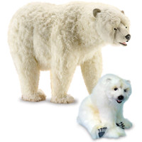 Sophia Life-Size Polar Bear and Cub
