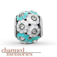 Charmed Memories Flower Charm Sterling Silver