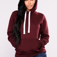 Keep It Simple Hoodie - Burgundy