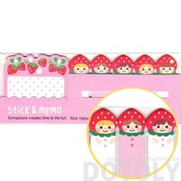 Strawberry Shortcake Girls Shaped Cute Memo Post-it Index Tab Sticky Bookmarks