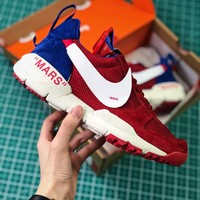 Off White X Tom Sachs X Nikecraft Mars Yar 2.0 Red White Sport Running Shoes - Best Online Sale