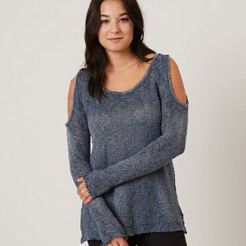 GILDED INTENT OPEN WEAVE SWEATER