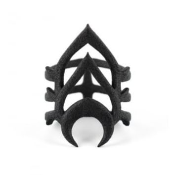 The Rogue + The Wolf Flowering Scarab Ring | Attitude Clothing
