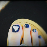 State Toe Nail vinyl Decal