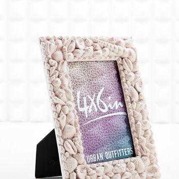 Seashell Glitter 4 X 6 Photo Frame - Urban Outfitters