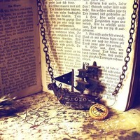 A Pirate's Tale  ship necklace by SixAstray on Etsy