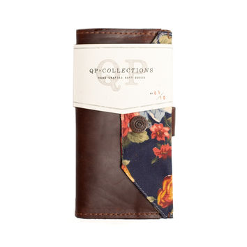 Brown Floral Wallet