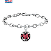 Bad To The Bow - Cheer Pendant Bracelet
