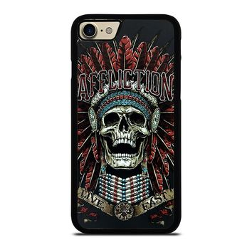 AFFLICTION SKULL INDIAN iPhone 7 Case Cover