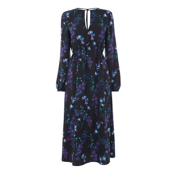 GILLY FLORAL MIDI DRESS