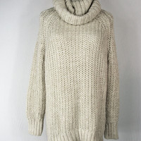 H&M Oversize Chunky Cable Knit Turtleneck Sweater XS/S