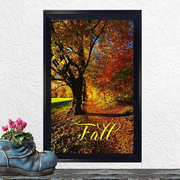 Fall Decor – Fall Print – Autumn – Seasons – Wall Art – Housewarming, Birthday, Wedding Gift – Office Decor – Instant Printable Download