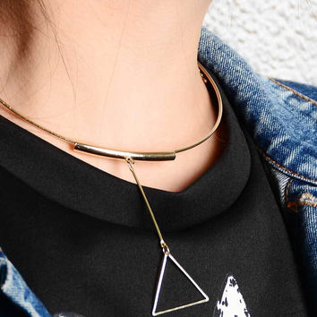 Shiny Gift New Arrival Jewelry Stylish Simple Design Strong Character Geometric Necklace [7271812743]
