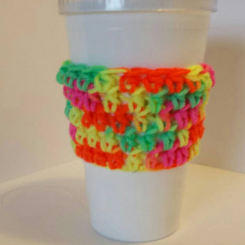 Crochet To Go Cup Sleeve! *Free Shipping*