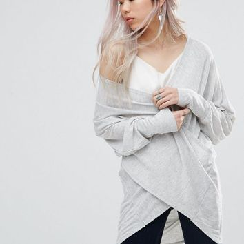 Wal G Top With Wrap Front at asos.com