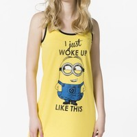 Dave the Minion I just woke up like this tank nightie