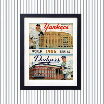 All 26 New York Yankee World Series Championship Season Program Covers Art Collectors Baseball Print