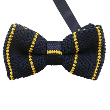 Yellow Knit Bow Tie