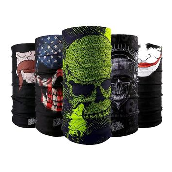 COOL Hiking Magic Scarf for Women Men Bicycle Headwear Reversible Bandanas Motorcycle Neck Scarves Cycling Head Band Headband