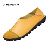 plardin 2018 Solid Women Shoes Flats Fashion Comfortable Loafers Women Casual Shoes Classic Driving Woman Shoes Moccasins