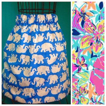 Custom Lilly Pulitzer Besame Mucho Skirt