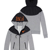 University of Texas Colorblock Zip Hoodie - PINK - Victoria's Secret