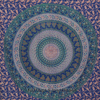 Twin Multicolor Bohemian Mandala Hippy Tapestry Beach Throw Bedspread on RoyalFurnish.com