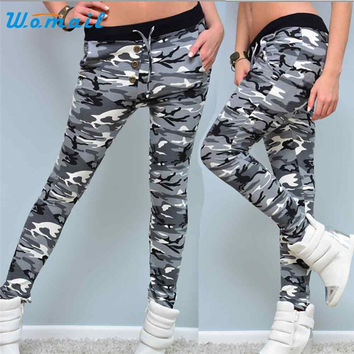 Pant Clothing Womail 2017 New Style Womens Workout  Leggings Fitness Soft Trouser Pants Fashion military army militar Fashion