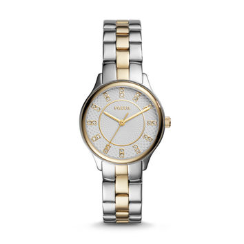 Modern Sophisticate Three-Hand Two-Tone Stainless Steel Watch