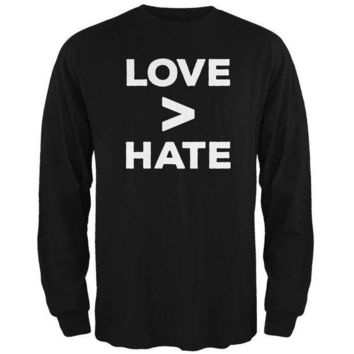 ICIK8UT Activist Love is Greater Than Hate Mens Long Sleeve T Shirt