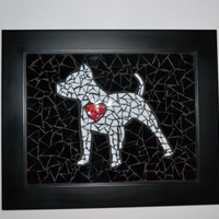 Puppy Love  (custom  mosaic) pitbull