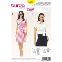 Burda Style Pattern 6664 Misses' Wrap Dress and Blouse