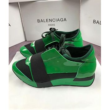 BALENCIAGA New Trending Women Men Casual Shoes Green/Black I-OMDP-GD