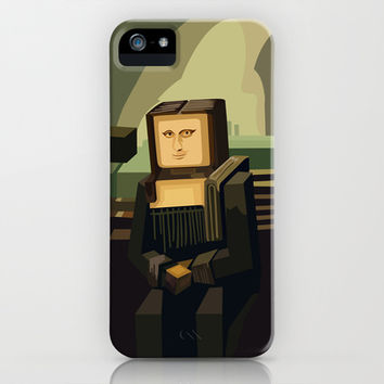 Beautiful 8 bit Monalisa Minecraft apple iPhone 4 4s, 5 5s 5c, iPod & samsung galaxy s4 case