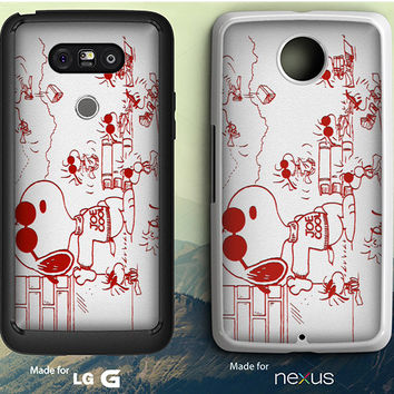 Snoopy Joe Cool Red And White LG G3/G4/G5 Case, Nexus 5/6 Case