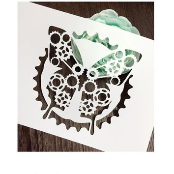 Gear Butterfly Scrapbooking tool DIY album masking spray painted template drawing stencil laser cut template AP7050296