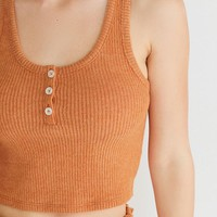Out From Under Brielle Flirty Henley Tank Top | Urban Outfitters