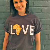 LOVE Africa T-shirt: Medium Orange