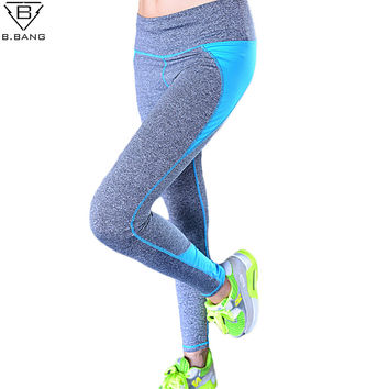 Women Sport Running Capris for Running Gym Fitness Sports Pants Nine Leggings for Woman Elastic Trousers ropa deportiva